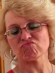 Sultry Mature Blonde In Sexy Glasses Receives A Big Cock In Her Wet Box And Loves It^my Wifes Mom Mature Porn Sex XXX Mom Free Pics Picture Gallery