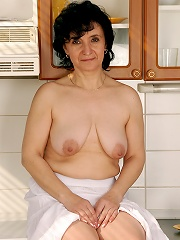 52 Year Old Sandra D Shows Off Her Full Bush And Tits In Her Kitchen^all Over 30 Mature Porn Sex XXX Mature Matures Mom Moms Erotic Pics Picture Galle